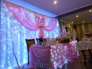 Украшение свадеб в цвете фуксия недорого цены