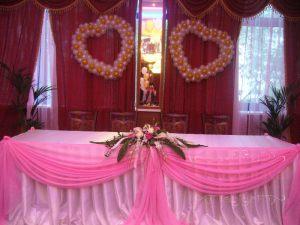 Оформление на свадьбу в цвете фуксия красиво