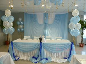 Декор свадеб в голубом цвете дешево