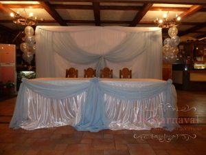 Украшение свадеб в голубом цвете оригинально