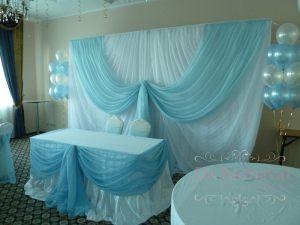 Украшение свадьбы в голубом цвете дешево