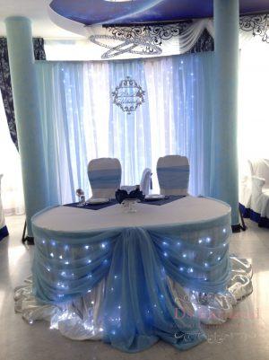 Украшение свадеб в голубом цвете дешево