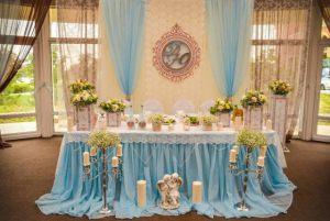 Украшение свадеб в голубом цвете цены