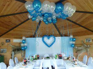 Украшение свадьбы в голубом цвете оригинально