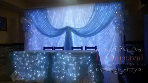 Оформление на свадьбу в голубом цвете недорого в Москве