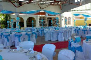 Оформление на свадьбу в голубом цвете цены