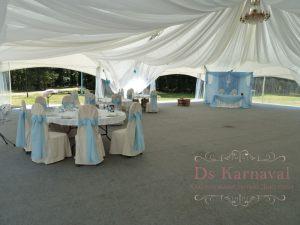 Декор на свадьбу в голубом цвете красиво