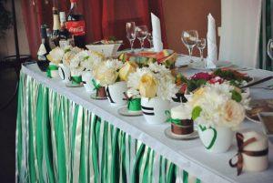 Украшение свадьбы в изумрудном цвете недорого
