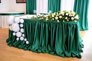 Украшение на свадьбу в изумрудном цвете недорого