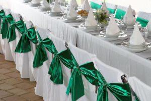 Украшение свадеб в изумрудном цвете оригинально