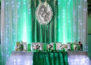 Украшение свадеб в изумрудном цвете фото
