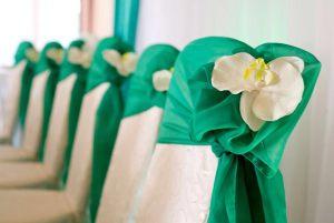 Украшение свадеб в изумрудном цвете красиво