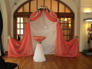 Украшение свадеб в коралловом цвете фото
