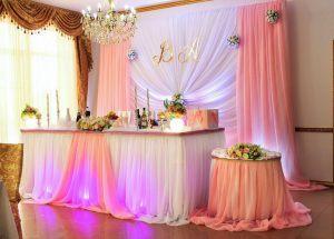 Украшение свадеб в коралловом цвете в Москве