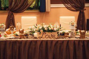 Украшение свадьбы в коричневом цвете в Москве