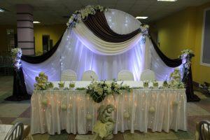 Украшение свадьбы в коричневом цвете фото