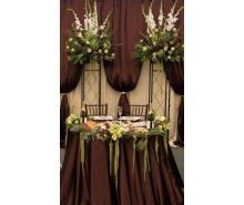 Декор на свадьбу в коричневом цвете в Москве