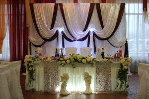 Оформление на свадьбу в коричневом цвете оригинально