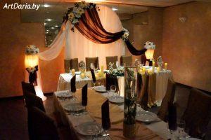 Оформление на свадьбу в коричневом цвете недорого цены