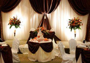 Оформление свадеб в коричневом цвете фото и цены