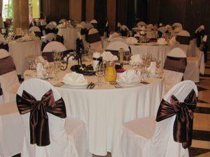 Украшение свадьбы в коричневом цвете недорого в Москве