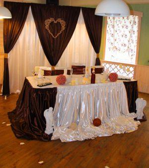 Украшение свадеб в коричневом цвете цены