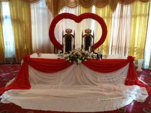 Оформление на свадьбу в красном цвете фото и цены