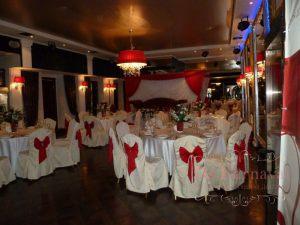 Украшение на свадьбу в красном цвете в Москве