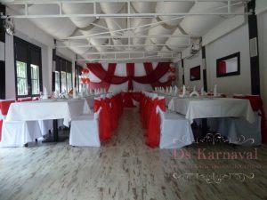 Украшение свадьбы в красном цвете недорого цены