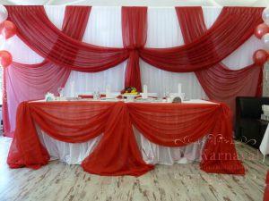 Декор свадеб в красном цвете фото