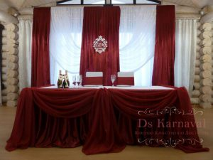 Оформление свадеб в красном цвете недорого в Москве