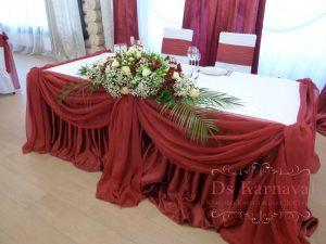 Украшение на свадьбу в красном цвете оригинально
