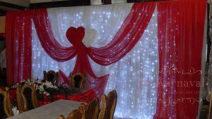 Оформление свадеб в красном цвете фото