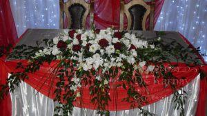 Украшение свадеб в красном цвете в Москве