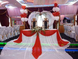 Украшение на свадьбу в красном цвете недорого