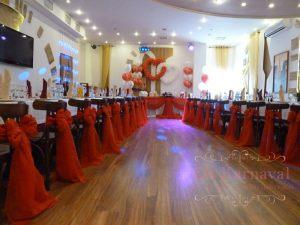 Декор на свадьбу в красном цвете фото