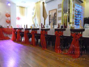 Украшение свадеб в красном цвете недорого