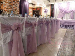 Декор свадьбы в лавандовом цвете фото