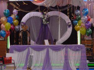 Оформление на свадьбу в лиловом цвете цены