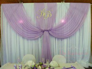 Украшение на свадьбу в лиловом цвете фото