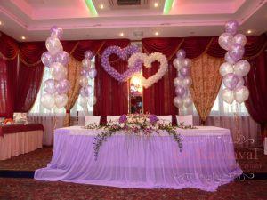 Оформление на свадьбу в лиловом цвете в Москве