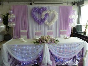 Декор свадьбы в лиловом цвете недорого