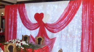 Декор на свадьбу в малиновом цвете дешево