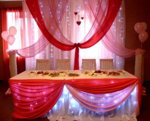 Декор свадьбы в малиновом цвете недорого цены