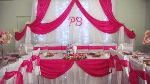 Оформление на свадьбу в малиновом цвете красиво