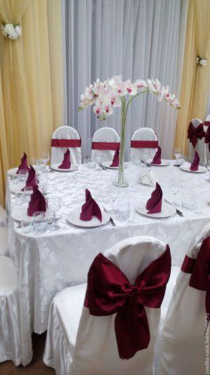 Украшение на свадьбу в цвете марсала недорого цены