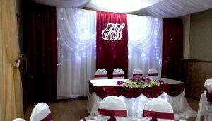 Оформление свадьбы в цвете марсала недорого в Москве