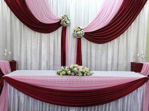 Оформление свадьбы в цвете марсала дешево