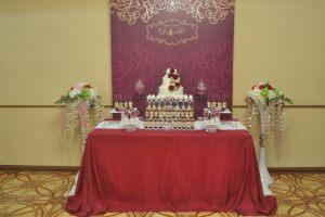 Украшение свадьбы в цвете марсала дешево