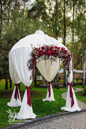 Декор свадеб в цвете марсала красиво